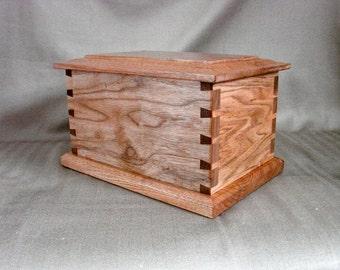Butternut Full Size Urn, Adult Urn, Religious Vault, Spiritual Vessel, Wood Urn, Cremation Urn
