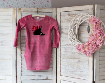 Pink dress for girls, Girls pink velour dress, Velour dress for girls, Girls clothing, Pink dress, Mommy and me dress
