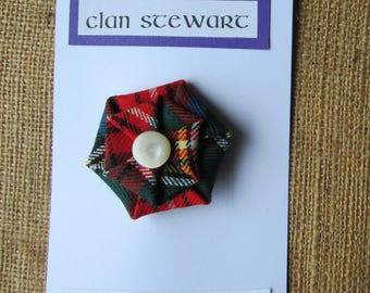 Stewart Royal Tartan Brooch made in Scotland