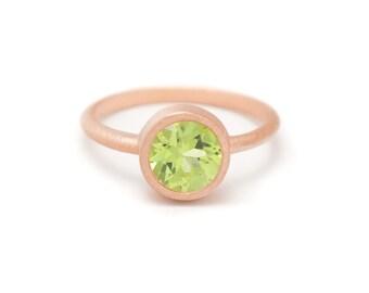 Peridot in Rose Gold Gemstone Ring - Rose Gold Ring - Gemstone Ring - Peridot - Sizes 4.5, 5, 5.5, 6, 6.5, 7, 7.5, 8, 8.5, 9, 9.5 and 10