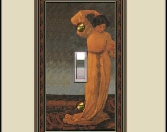 1589-t1 - Arts and crafts design switch plate - - parrish griselda - mrs butler