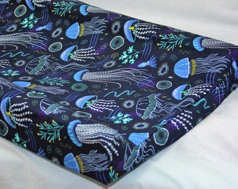 Standard Changing Pad Cover / IKEA Vadra Change Pad - Jellyfish In Navy