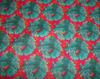 Beautiful Large Mod turquiose flowers Print by Tina Givens Petals for Westminster fibers from Free Spirit 1 yard cotton quilt fabric