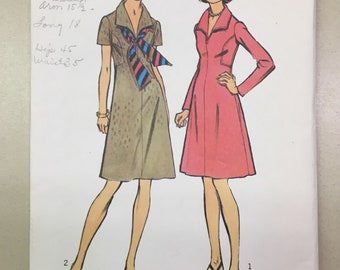 Simplicity 5969 COMPLETE vintage sewing pattern Misses' Dress Size 18.5 Bust 39