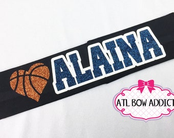 Basketball Headband with Name - Pick your colors!