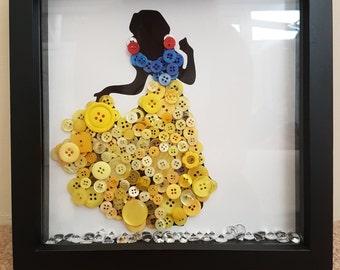 Button art Snow White