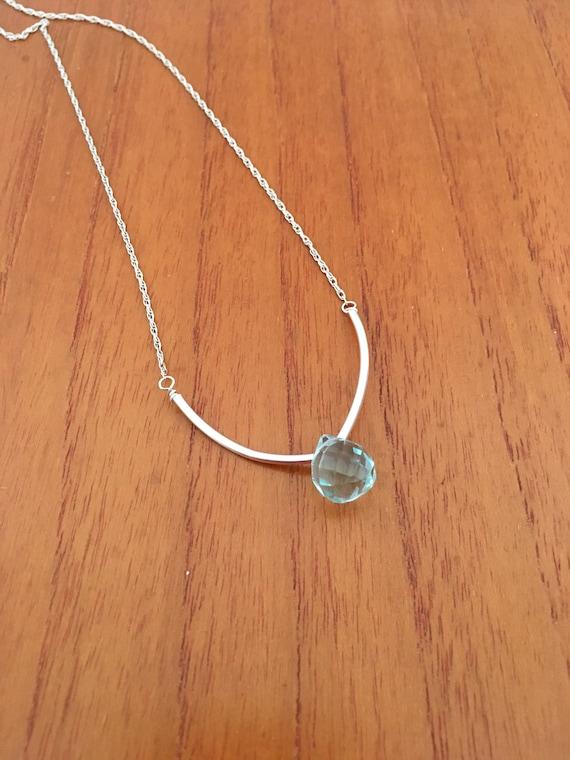 S - 657 Aquamarine necklace
