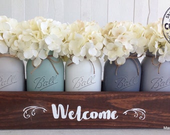 Mason Jar Centerpiece, mason jar planter