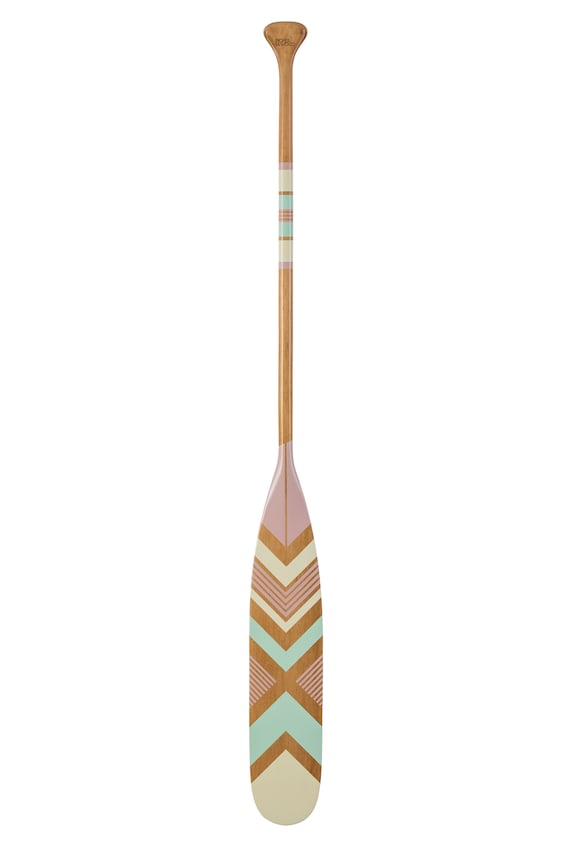 Canoe Paddle Decorative Oar Hand Painted Wood