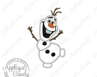Mini Frozen Snowman Applique Machine Embroidery Design 1.5x2.5  2x3.25 Perfect for Bows 0laf INSTANT DOWNLOAD