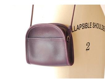 vintage Coach Abbie purple leather purse