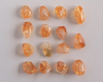 Brazilian Citrine Tumbled Gemstone - Tumbled Stone - Polished Stone, 15 pieces