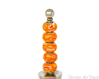 Orange Bottle Topper, Orange Wine Stopper, Funky Wine Stopper, Vibrant Bottle Stop