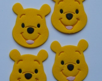 12 edible WINNIE THE POOH baby shower christening cake cupcake topper decoration wedding anniversary birthday engagement valentine cookie