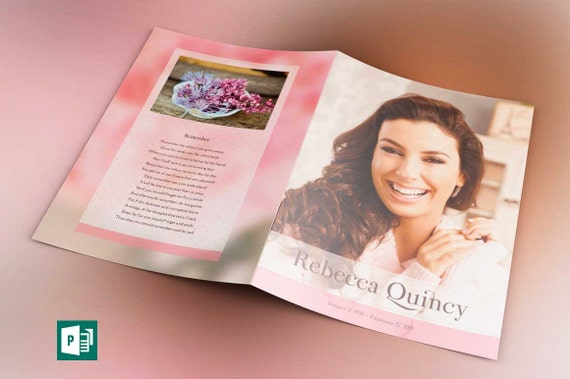 Glamour Funeral Program Tabloid Publisher Template from Godserv on ...