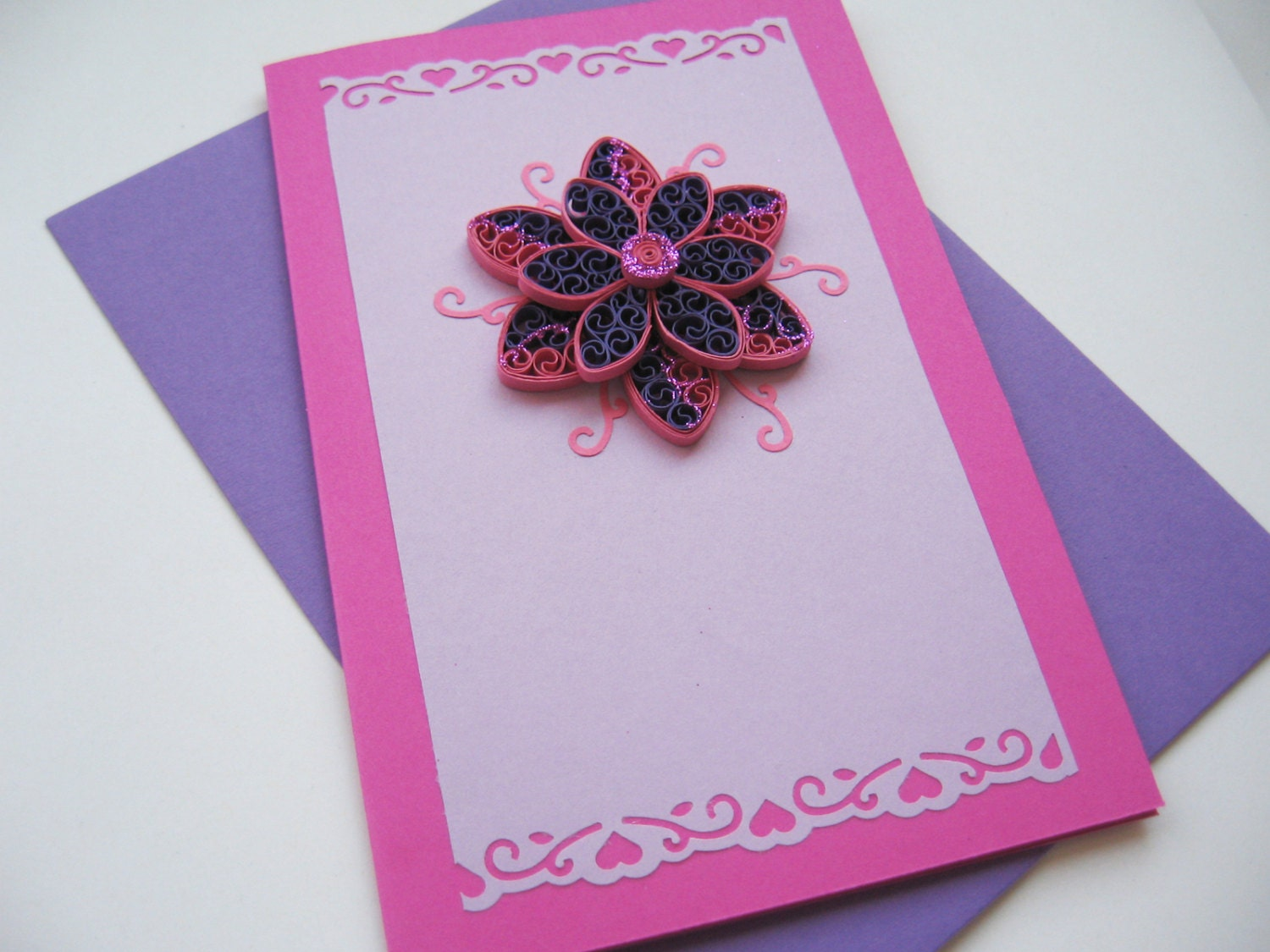 Handmade greeting card quilling birthday card for her zoom kristyandbryce Images