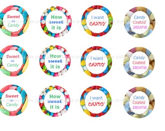 Candy themed bottle cap images