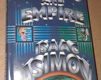 Robots and Empire by Isaac Asimov 1985 HC DJ VG+