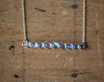 Vintage 9 CT moonstone pin pendant ∙ gold and moonstone pendant necklace