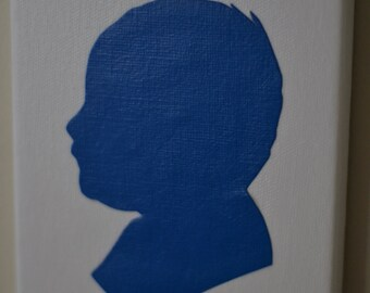 Custom Handmade Silhouette, KimWolf Design, Silhouette by KimWolfDesign, Portrait, Custom Art, Hand Cut, Paper Silhouette, Canvas Silhouette