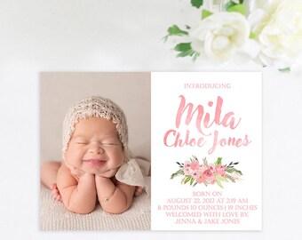 Baby Announcement Birth Announcement Baby Girl Baby Boy - Girl birth announcements