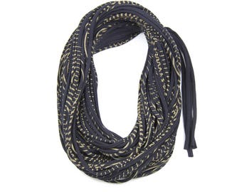 Statement Jewelry, Infinity Scarf, Travel Gift, Scarves for Women, Scarf Women, Black Scarf, Statement Necklace, Travel Accessories, Womens