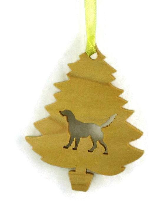 Wooden Golden Retriever Christmas Ornament Handmade From Poplar Wood