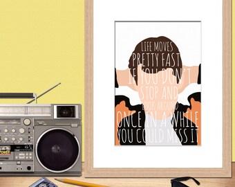 Ferris Bueller • 80s Movie Print • John Hughes Print • Cool Art • Digital Art Print •Print • Movie print • Ferris Bueller's Day Off
