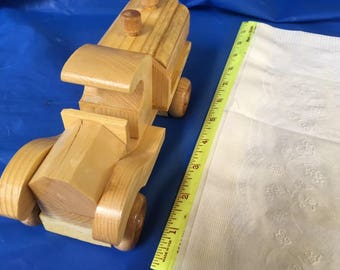 Small Wooden Toy Pickup Truck