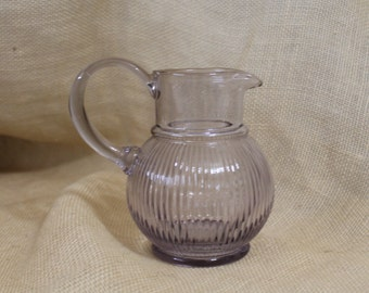 Small Glass Pitcher / Vase in a Purple / Lilac Hue
