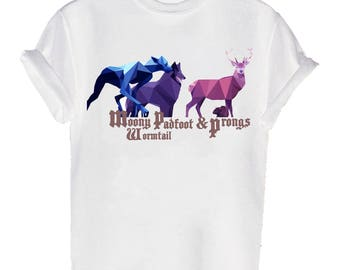 moody Wormtail Padfoot Prongs Geometric T-shirt