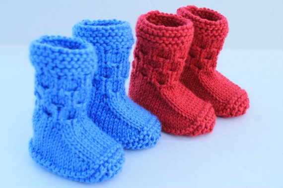 Instant Download Seamless Baby Booties Pdf Pattern Knitting Baby