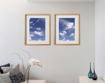 Coastal 2V1 Print Collection.  Detail photography, nature, sky, clouds, blue, decor, wall art, artwork, large format photo.