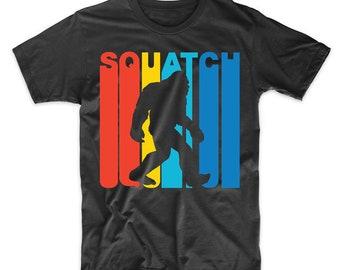 Retro 1970's Style Squatch Bigfoot Sasquatch T-Shirt