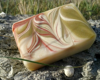 Wheatgrass and Rose Clay Soap, Gently Scented, Luxury Spa Soap, Detox Solid Soap, Exfoliating Solid Soap, Happy Skin, Made in Ireland