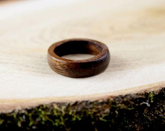 Dark wood ring, wood ring, wood rings for men, wood rings for women, walnut wood ring, wooden rings for women, wooden rings for men, rings
