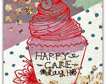 Map double Happy Cake Day 12.5 cm x 17.5 cm