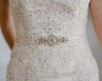 Bridesmaid Belt   Petite Bridal Belt   Silver Bridal Sash   Bridesmaid Sash   Crystal Bridal Sash   Bridal Sash Belt   Petite Gemma Sash