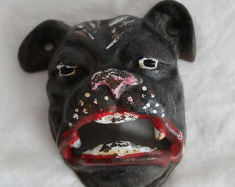 Cast iron bottle opener dog face circa 1930s