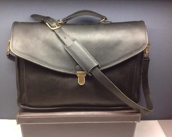 Vintage Coach Bleeker Flap Briefcase Satchel Laptop Messenger Bag