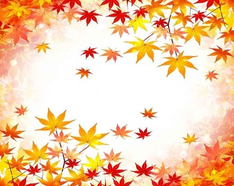 Falling Maple Leaf 5ft x 5ft Backdrop Computer Printed Photography Background XLX-088