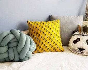 Housse de coussin aux imprimés toucan 40 x 40  ou 50 x 30 - cadeau personnalisable-cadeau noël - cadeau pour femme