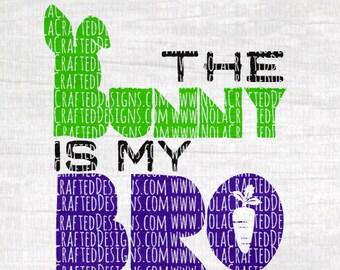 Bunny Svg Cut File - Boy Easter Svg Cut File - Teen Boy Svg Cut File - Trendy Easter Svg - Hipster Easter Svg Cut File - Bro Bunny Svg