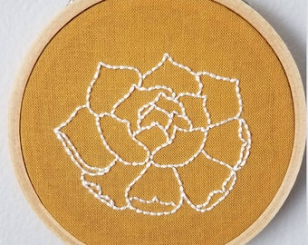 Small Floral Embroidery Hoop Art