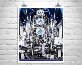 Hot Rod Photo, Mancave Decor, Hot Rod Gift, Automotive Decor, Car Art, Muscle Cars, Automotive Art, Car Prints, Gift for Car Nut, Chrome
