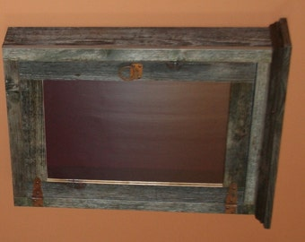 Weathered Gray Barnwood Furniture   Weathered Gray Medicine Cabinet    Antique Barnwood Medicine Cabinet