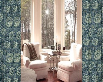 Extra Long Curtains SALE Robert Allen Peony Bowl Custom Made Drapes From 2 Story