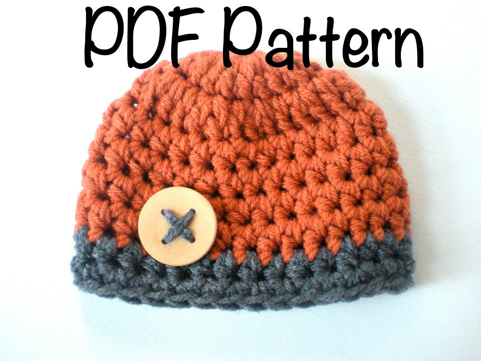 Pattern Chunky Beanie Easy Crochet Pdf Instant Download