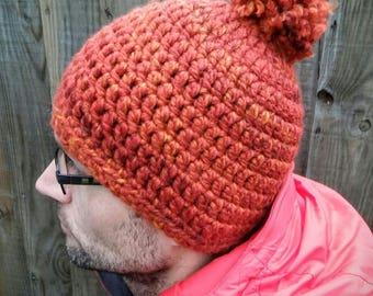 Warm Wool Blend Beanie Hat with/ without pom-pom