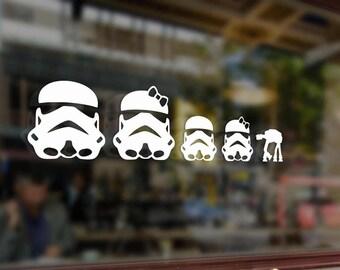 Star Wars Car Decal Etsy - Star wars family car decals